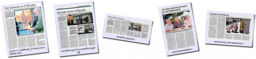 Prismakunst Thumbnails von Presseartikeln