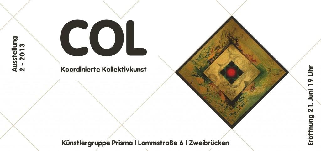 Col Art Einladungskarte Prismakunst 2013